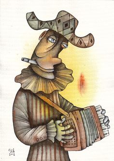Clown by Eugene Ivanov #cirque #circus #clown #clownery #illustration #eugeneivanov #@eugene_1_ivanov