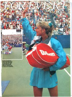 "Chrissie says ""goodbye"" to tennis at the 1989 US Open"