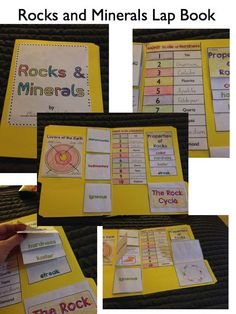 Everything Rocks and Minerals Unit….Lap book activity. Grades 3-5 $