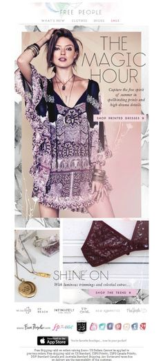 Free People - Another Beautiful Email Blast Design
