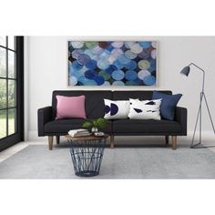 Paxson Linen Futon, Multiple Colors - Walmart.com