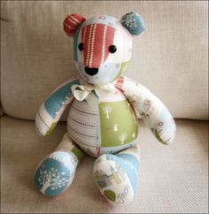 Printable Teddy Bear Sewing Pattern   If you go down in the woods today...