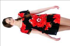 Платье с цельнокроеным рукавом для настоящей леди
