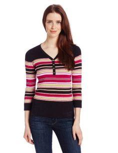 Jones New York Women's Petite Sleeve V-Neck Multi Stripe Henley, Black Combo, Petite/Small Tuxedo T Shirt, Henleys, Blank T Shirts, Shirt Maker, Cheap T Shirts, Henley Shirts, Long Sleeve Shirts, V Neck, Tees