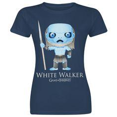 "Game Of Thrones T-Shirt, Women ""Funko Pop! - White Walker"" navy"