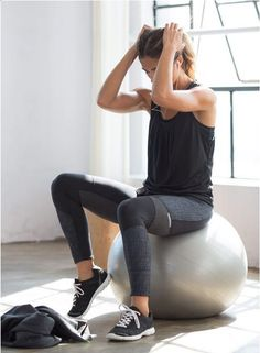 The Mika's two layer top gives your coverage without the cling and looks great with trendy high performance leggings. Head to prAna.com for more affordable yoga wear that's eco friendly and sporty-chic.: | Shop @ FitnessApparelExpress.com