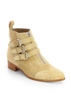 Tabitha Simmons - LB Striped Satin Lace-Up Ankle Boots - Saks.com
