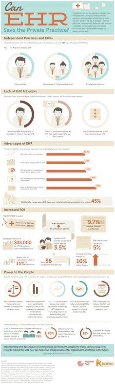 Can EHRs Save the Private Practice? | New Visions Healthcare Blog #infographic #EHR #EMR #eHealth #data #information #hcr #hcsm #costs #education #application #knowledge #healthcare #billing #cloud #technology #physician - www.healthcoverageally.com