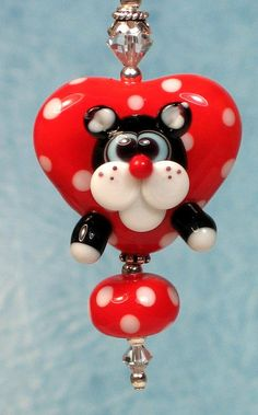 Made to order Margo lampwork beads valentine red by margolampwork, $30.00