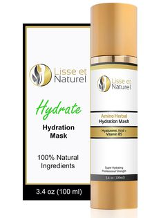 Lisse et Naturel Hydration Facial Mask - The BEST Moisturizing Face Mask - Contains Hyaluronic Acid, Vitamin B5 and Amino Acids - This Anti-Aging Face Mask Provides Superior Hydration To Your Skin Cells. Results Guaranteed. Large 3.4 OZ Size. -- Continue to the product at the image link.