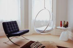 Barcelona chair & Bubble Chair http://www.bubblechairsdirect.co.uk/