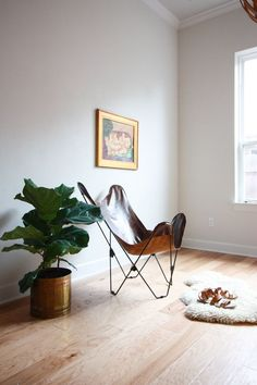 Leather Butterfly Chair Cover DIY- One Little Minute Blog