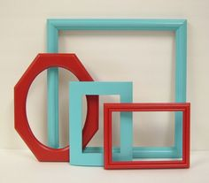 Picture Frame Set Yellow and Gray Modern Home Decor Yellow Grey Picture Frames from MountainCoveAntiques on Etsy. Turquoise Laundry Rooms, Turquoise Wall Decor, Turquoise Walls, Red Turquoise, Grey Picture Frames, Shabby Chic Picture Frames, Painted Picture Frames, Picture Frame Sets, Red Kitchen Decor
