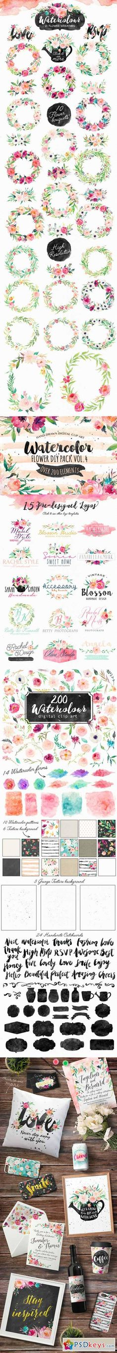 Watercolor DIY pack Vol.4 358935