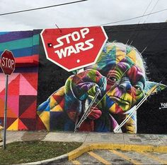 Stop Wars Street Art by kobra
