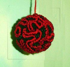 Xmas Ornament, Bath Pouf Loofah Scrubby | Craftsy