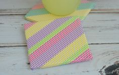 washi tape drink coasters | There you have it! A simple, custom, and easy DIY gift anyone can make ...