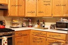 Where things located in the cabinets: Louisa shared her accomplishments on the Facebook wall, and I thought she did so great I wanted to show even more of her pictures. Since she did Challenges