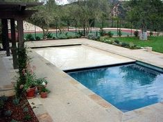 Automatic retractable pool covers you can walk on when you need to. Save water, temperature, and pool chemistry with a safe automatic cover by All-Safe. Backyard Pool Designs, Swimming Pools Backyard, Swimming Pool Designs, Best Automatic Pool Cleaner, Automatic Pool Cover, Inground Pool Covers, Retractable Pool Cover, Pool Safety Covers, Pool Landscape Design