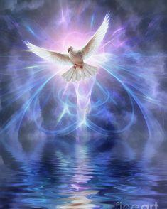 Harbinger Poster by John Edwards Image Jesus, Jesus Christ Images, Jesus Art, Dove Pictures, Angel Pictures, Jesus Pictures, Beautiful Angels Pictures, Beautiful Birds, Apache Indian