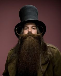 2011 World Beard & Moustache Championships  Category: Full Beard with Styled Moustache  1st Place: Burke Kenny, USA
