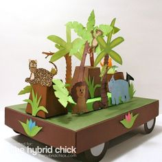 papercrafted Junglemania theme Parade Float/centerpiece