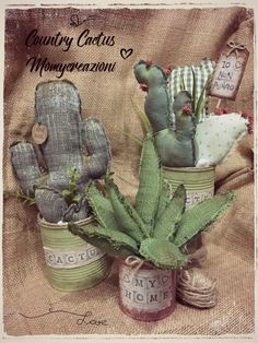 59 Best Ideas For Embroidery Cactus Decor Cactus Craft, Cactus Decor, Fabric Crafts, Sewing Crafts, Sewing Projects, Felt Flowers, Fabric Flowers, Diy Crafts For Kids, Arts And Crafts