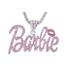 Amazon.com: Nicki Minaj Barbie Pink Crystal Pendant Charm Silver Tone... ($149) ❤ liked on Polyvore featuring jewelry, necklaces, accessories, charm pendant necklace, nicki minaj necklace, pink crystal pendant, pendant necklace and crystal charms