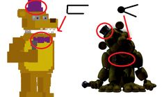 Fredbear and Golden Freddy are not the same! Look at the clothers and the mouth. In other words: Golden Freddy is in the location where Foxy swings in (Minigame Get Ready - Go, Go, Go!) - FNAF some facts