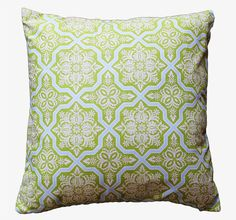 Green and blue pillow cover