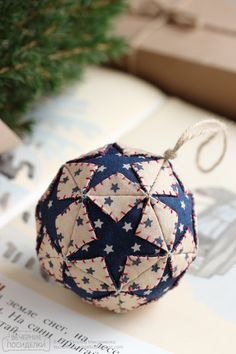 15 DIY Christmas Ornaments Made by Grandma Fabric: Absolutely LOVE this one. I think it could be gorgeous with white and gold.