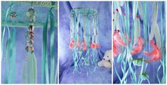 Watermelon Rose Summer Nursery Baby Mobile handmade exclusive Dreamcatcher…
