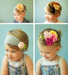 headbands such cute kids! this headband thing is a great idea and soooo pretty on little girls :-) Baby Kind, My Baby Girl, Baby Love, Creation Couture, Hairbows, Fabric Flowers, Hair Flowers, Fabric Bows, Giant Flowers