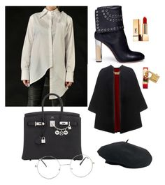 """""""Untitled #21"""" by maria-seceleanu on Polyvore featuring Alexander McQueen, Venus, Hermès, Yves Saint Laurent, Nasty Gal and Burberry"""