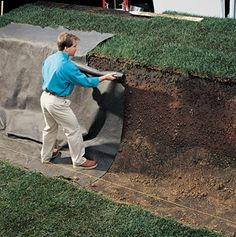 How to Build a Retaining Wall - Cabin Life Magazine We have all the materials to help make this happen at your home at your local Woerner landscape store. Www.woernerlandscape.com