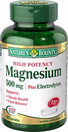 High Potency Magnesium 500mg plus Electrolytes Nature's Bounty - 90 tablets NEW #NaturesBounty