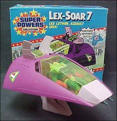 Super Powers Collection Vehicles Lex-Soar Jan 1984 Action Figure by Kenner Superman Logo, Batman And Superman, Comic Book Superheroes, Comic Books, Kenner Toys, Classic Artwork, Back In My Day, Old Toys, Super Powers