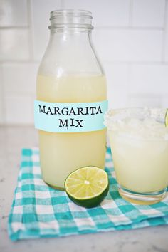 Homemade Margarita Mix – A Beautiful Mess