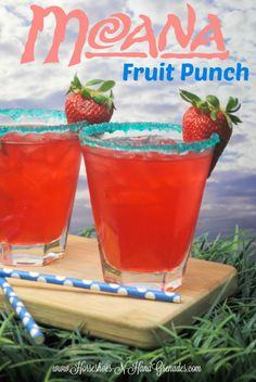 Moana pink punch recipe | Fun summer recipe or for a movie night