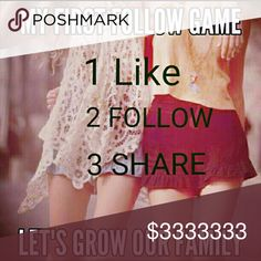 Less than 3000 to go!!! Hi, Welcome to my very first follow game. I am trying to reach 10,000 followers. Can you help me reach my goal?Grow mine and your followers as well. Just like this post, share it to your followers tag friends and follow all who liked. Accessories