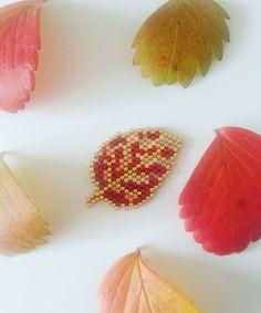 WEBSTA @ lili_azalee - Ma petite feuille s est cachée !!! saurez vous la retrouver ??  version agrandie de la feuille rose dans les tons bordeaux saumon et rose #jenfiledesperlesetjassume #miyuki #miyukiaddict #perles #perlesandco #diy #handmade #motifliliazalee #lili_azalee #feuille #automne #autumn #flowleaf2016 #leaf #perlesmiyuki #perlesaddictanonymes #broche #instaphoto #instapicture