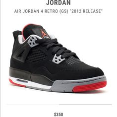 Air Jordan Retro 4 Bred Authentic Jordan Retro 4 8ab5f7845