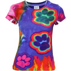 Electric Paws Tie-Dye Tee -  Every Purchase Funds Food and Care for Rescued Animals.