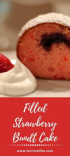 A delicious bundt cake using balsamic vinegar to enhance the sweetness of the strawberries.  #strawberrybundt #strawberrycake