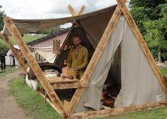 Viking Tents – Avalon Tents – Historical Tents- Viking Tents – Les Tentes d'Av… – Armchair world – bushcraft camping Viking Tent, Viking Camp, Viking Life, Bushcraft Camping, Camping Survival, Survival Skills, Survival Tips, Camping Am Meer, Zelt Camping