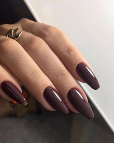 That Will Make You Acrylic Nails Short Almond Matte Grey 74 - Ongles 02 Cute Acrylic Nails, Cute Nails, Pretty Nails, My Nails, Acrylic Nails Almond Matte, Perfect Nails, Gorgeous Nails, Thanksgiving Nails, Dream Nails