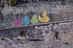 These Street Artists, better known as Urban X Stitch, Are Making Murals On Chain Link Fences...With A Sewing Technique!