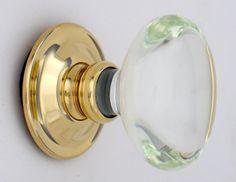 Clear oval glass door knob by Merlin Glass