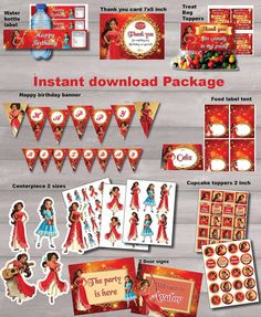 Elena of Avalor package DIGITAL FILE birthday party by OddPose