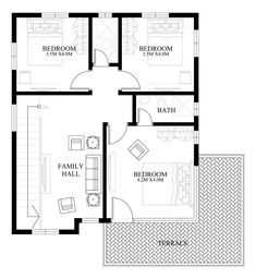 PLAN DESCRIPTION Modern house design is a 4 bedroom two story house which can be built in a 180 sq. lot having a minimum lot frontage of 12 meters. This design features 2 car garage,… 2 Storey House Design, Bungalow House Design, Small House Design, Modern House Design, Modern Filipino House, Double Storey House Plans, Small Cottage Designs, Model House Plan, Plans Architecture
